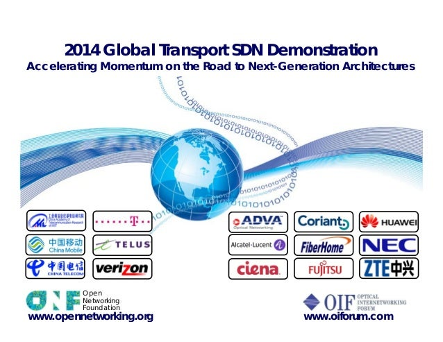 2014 Global Transport SDN Demonstration Accelerating Momentum on the Road to Next-Generation Architectures ALU www.opennet...