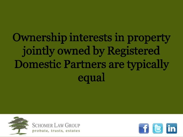 Registered Domestic Partners California Community Property