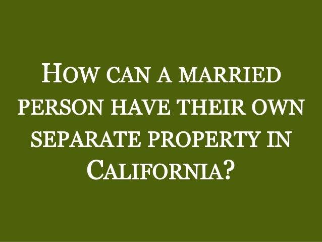 California Registered Domestic Partner Community Property