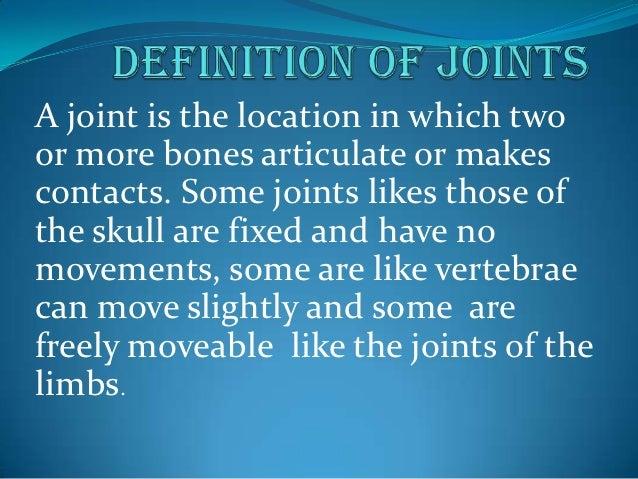 Joints Slide 2