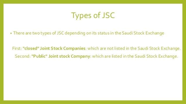 Joint stock companies in saudi arabia