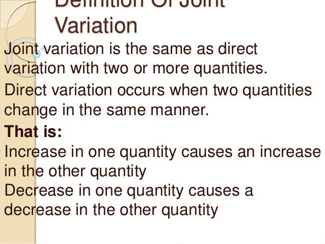 Inverse, joint, and combined variation ppt video online download.