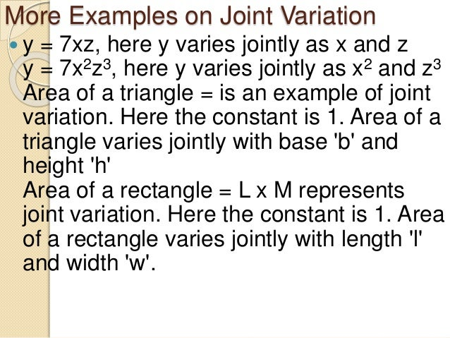 Joint variation.