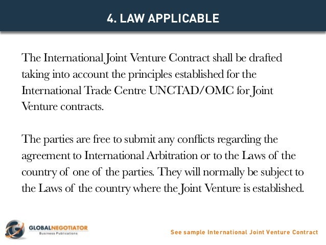 INTERNATIONAL JOINT VENTURE CONTRACT Contract Template and Sample – Joint Venture Contract Template Free