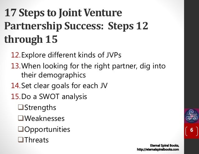 17 Steps to Joint Venture Partnership Success