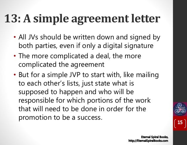 ... 15. 13: A Simple Agreement ...