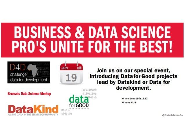 Join us - @VUB - June 19th - Doing Data for Good