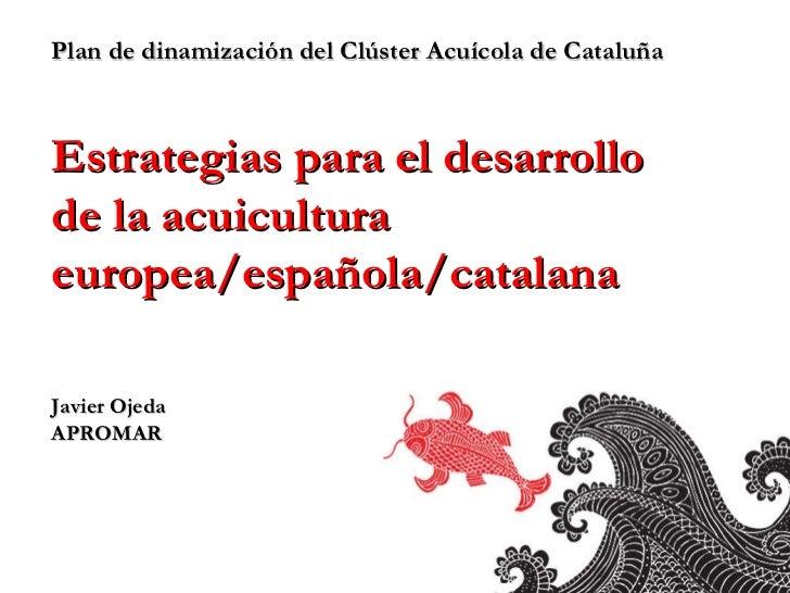 Plan de dinamización del Clúster Acuícola de Cataluña Estrategias para el desarrollo  de la acuicultura europea/española/c...
