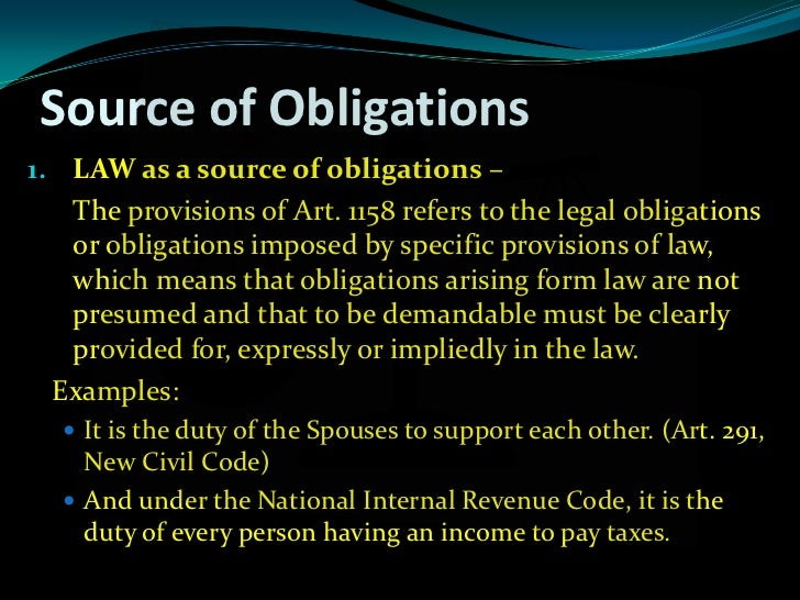 obligation and contract Obligation definition: the definition of an obligation is something that someone is required to do  a binding contract, promise, moral responsibility, etc.