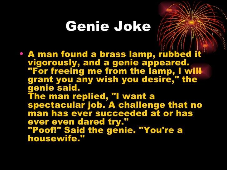 ... 6. Genie Joke ...