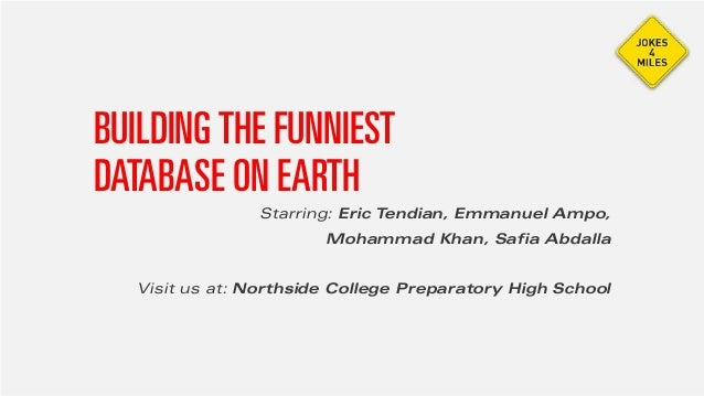 BUILDINGTHE FUNNIESTDATABASE ON EARTHStarring: Eric Tendian, Emmanuel Ampo,Mohammad Khan, Safia AbdallaVisit us at: Norths...