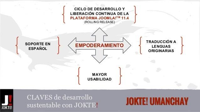 CICLO DE DESARROLLO Y  LIBERACIÓN CONTINUA DE LA  PLATAFORMA JOOMLA!TM 11.4  (ROLLING RELEASE)  EMPODERAMIENTO  MAYOR  USA...