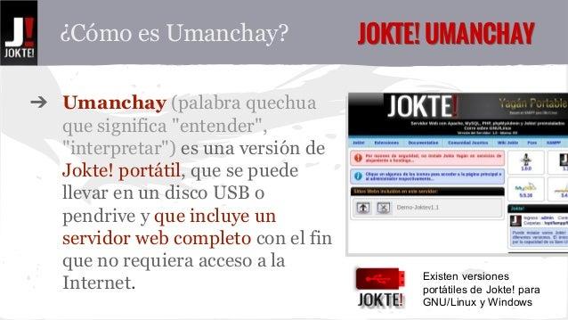"¿Cómo es Umanchay? JJOOKKTTEE!! UUMMAANNCCHHAAYY  ➔ Umanchay (palabra quechua  que significa ""entender"",  ""interpretar"") e..."