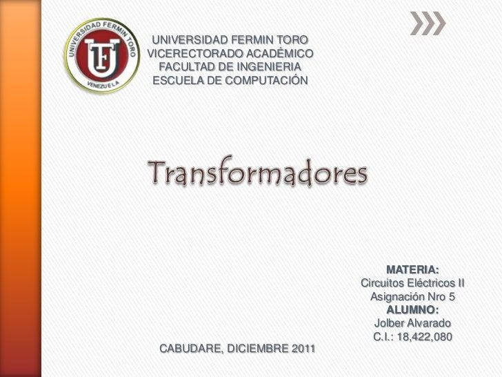 UNIVERSIDAD FERMIN TOROVICERECTORADO ACADÉMICO  FACULTAD DE INGENIERIA ESCUELA DE COMPUTACIÓN                             ...
