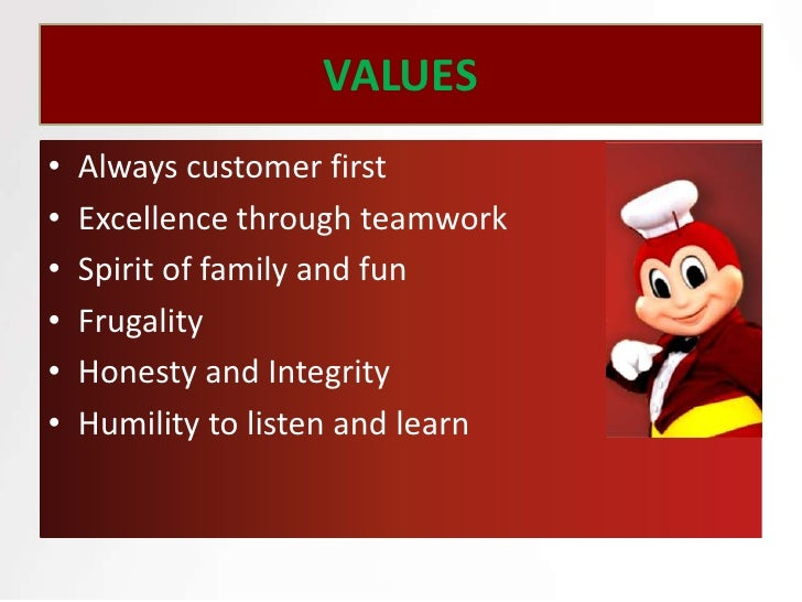 reaction paper on mission vision of jollibee Reaction paper on mission vision of jollibee this document sets out a strategic  plan for anybiz vision, mission, objectives & values vision: we inspire and  enable.