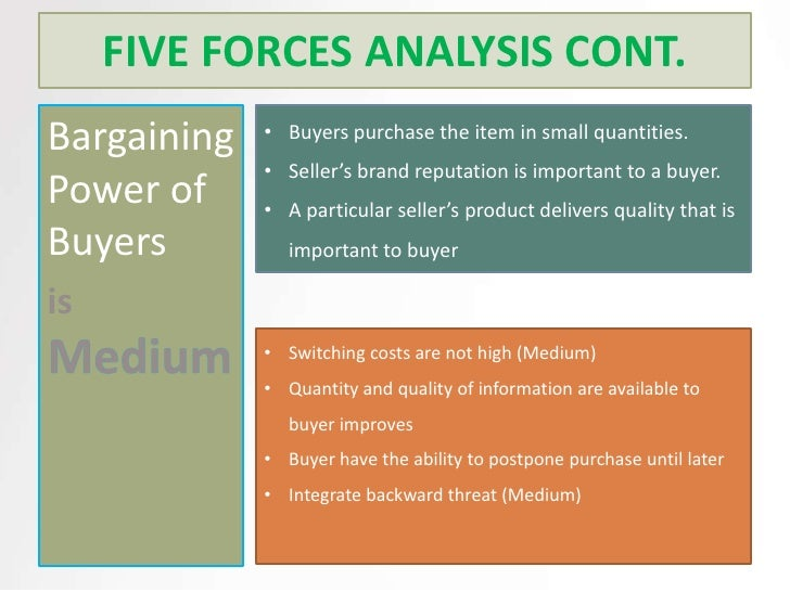 five forces analysis of the swedish Purpose was to analyse the swedish organic food market in terms of  chart 5-‐ 1 overview of porter's five forces applied in the analysis39.