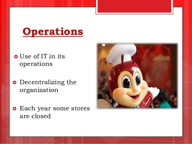 jollibee food corporation strategic management Mba 2 assignment in strategic management business analysis (jollibee food corporation) jeff c balanag 15/6/2012 1 table of contents introduction company description jollibee history and milestone jollibee food corporation ownership the use of school of strategy culture school values, mission.