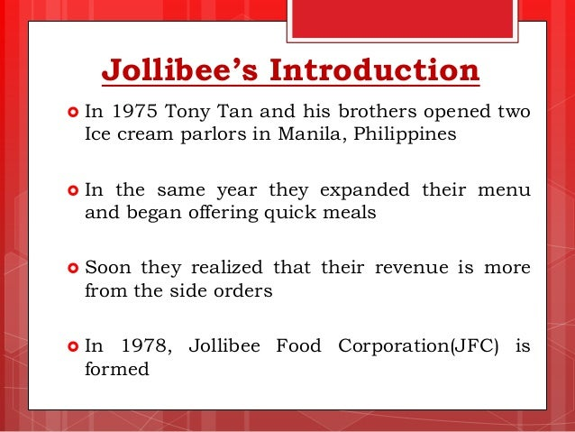 jollibee foods corporation case study ppt