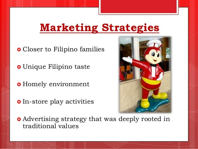marketing strategy of jollibee food corporation Running a restaurant operation is not an easy job it is complex and demaning employees, food, equipment, facilities must be managed and coordinated every minute of every working day.