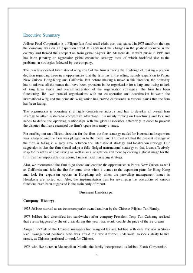 jollibee foods corporation case study ppt
