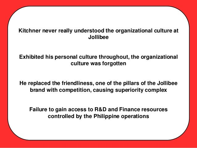 jollibee foods corporation cultural dimensions For anthropologists, an approach that investigates and seeks to understand cultures in terms of universal dimensions, that is by using constructs which are universally valid and generalizable across all human cultures, is termed an etic approach.