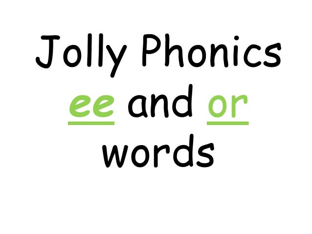 Jolly phonics ee digraph