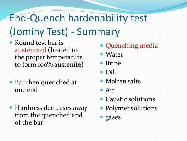 Jominy End-Quench Test for Hardenability of Steel | Metallurgy