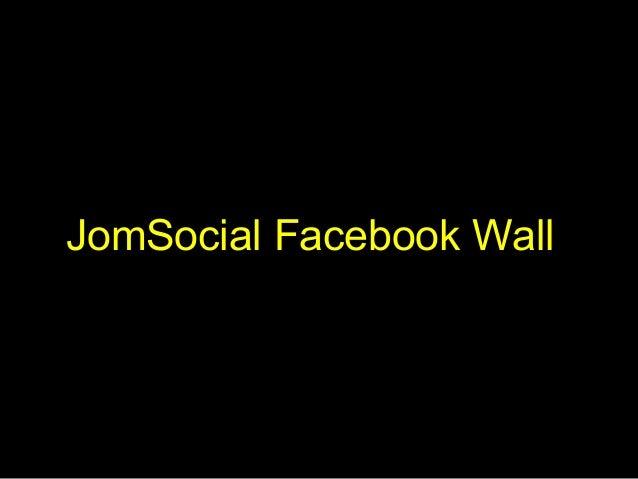 JomSocial Facebook Wall