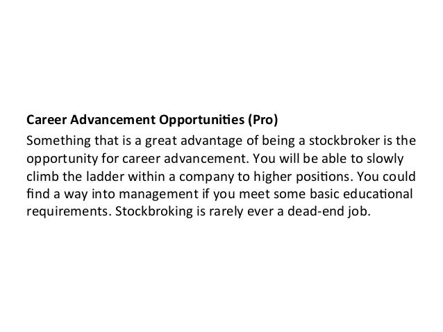 The Pros and Cons of Being a Stock Broker by Jonah Engler