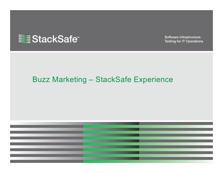 Buzz Marketing – StackSafe Experience