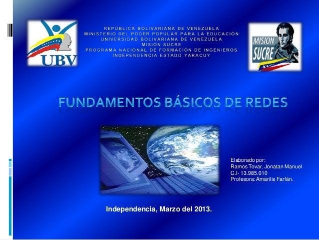 Elaborado por:                                 Ramos Tovar, Jonatan Manuel                                 C.I- 13.985.010...
