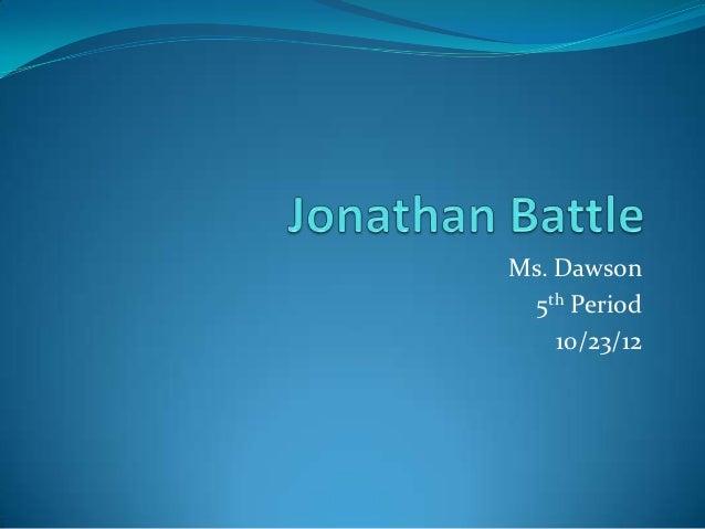 Ms. Dawson  5th Period    10/23/12