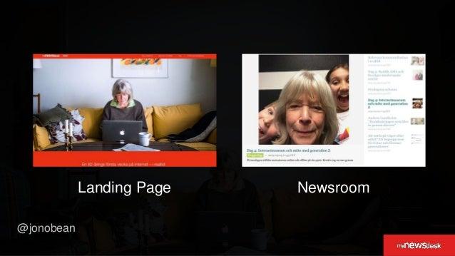 @jonobean 20,773 newsroom views 83% desktop users 17% mobile users Platform Consumption #data&insights