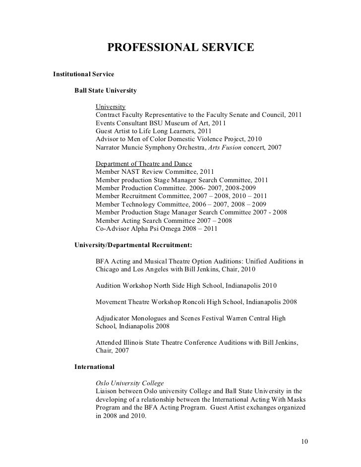 musical theatre resume examples best resumes