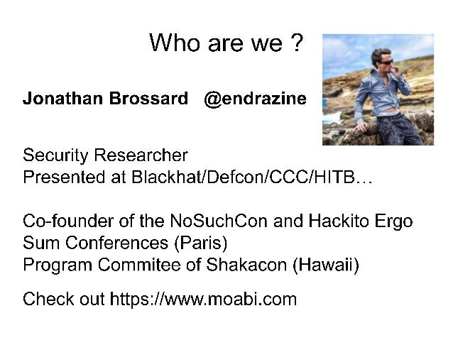 [Blackhat2015] SMB : SHARING MORE THAN JUST YOUR FILES... Slide 3