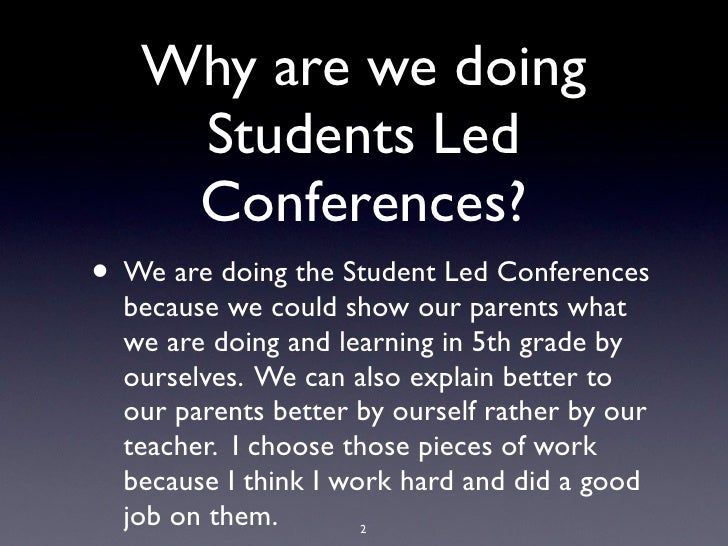 Student Led Conference - Jonathan