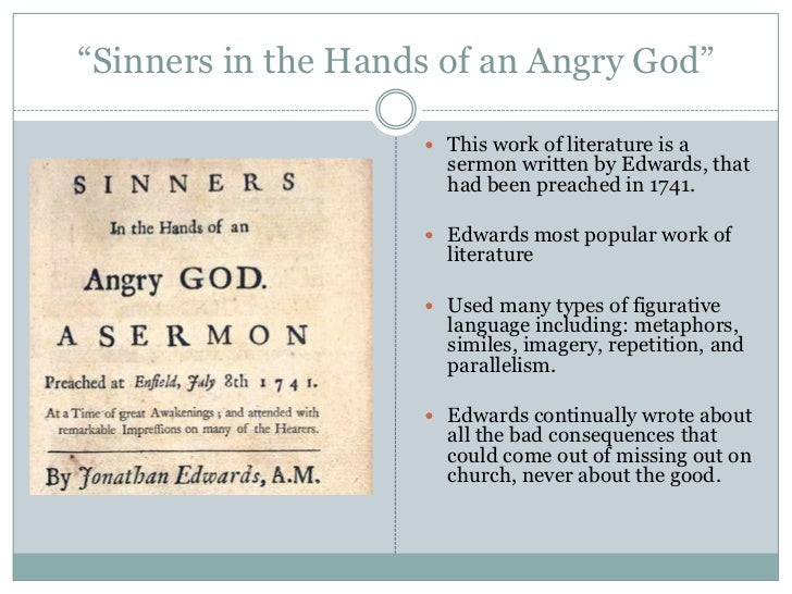 sinners in the hands of an angry god and the declaration of independence essay Sinners in the hands of an angry god savoy declaration beauty and sensibility in the thought of jonathan edwards: an essay in.