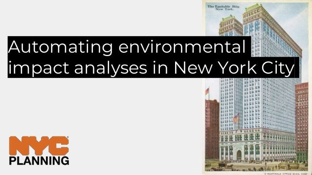 Automating environmental impact analyses in New York City