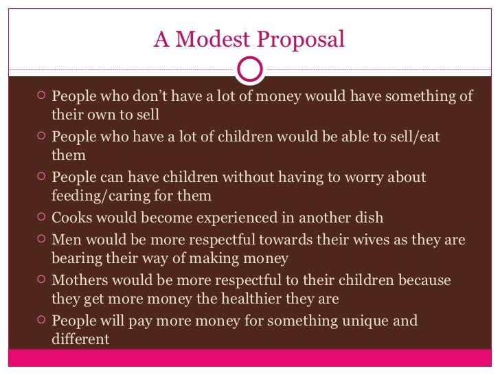 swifts modest proposal Thesis modest proposal jonathan swift, - buy literary analysis not sure whether a certain writer suits your needs view three samples of papers completed by a writer recently for just $5 and make up your mind.