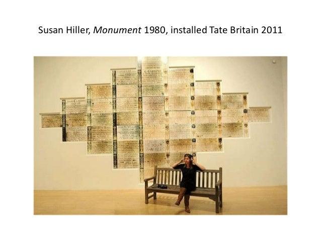 Susan Hiller, Monument 1980, installed Tate Britain 2011