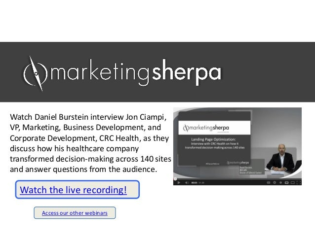 Watch Daniel Burstein interview Jon Ciampi, VP, Marketing, Business Development, and Corporate Development, CRC Health, as...