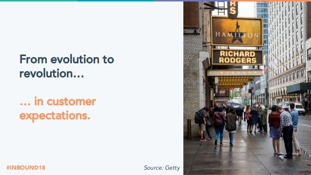 @jondick#INBOUND18 From evolution to revolution… … in customer expectations. Source: Getty