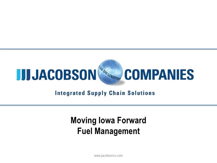 Click to edit Master title style                 Moving Iowa Forward                  Fuel Management                     ...