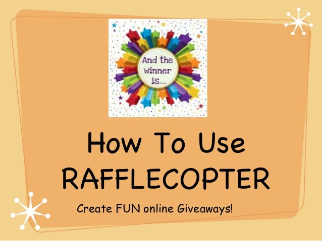 How To Use RAFFLECOPTER Create FUN online Giveaways!