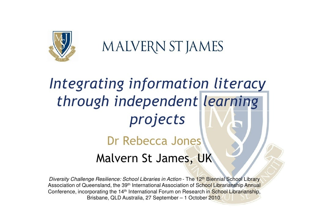 Integrating information literacy through independent learning projects