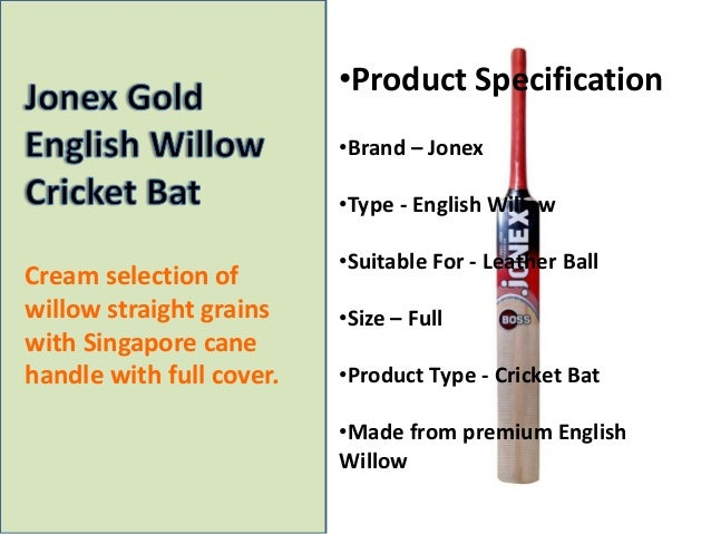 Jonex Gold English Willow Cricket Bat
