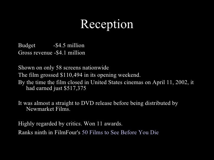 a comprehensive analysis of donnie darko a film directed by richard kelly Donnie darko opening scene analysis cult film directed by - richard kelly in the filmwe then see donnie's mother.
