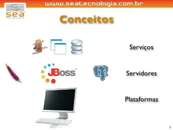 Conceitos               Serviços               Servidores               Plataformas                             2