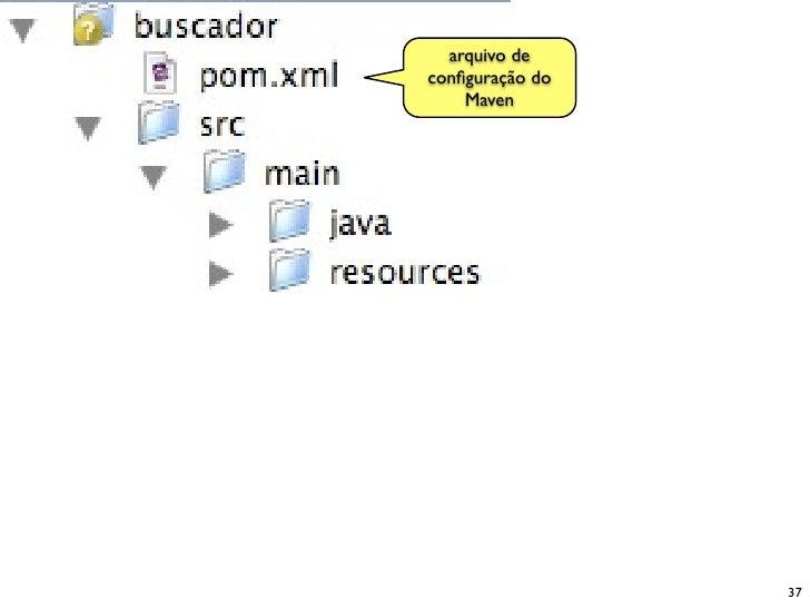 arquivo de configuração do     Maven                      37