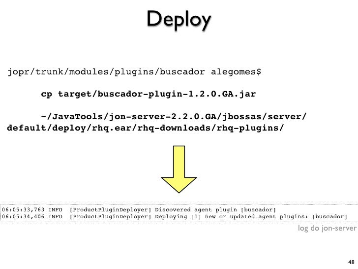 Deploy   jopr/trunk/modules/plugins/buscador alegomes$             cp target/buscador-plugin-1.2.0.GA.jar         ~/JavaTo...